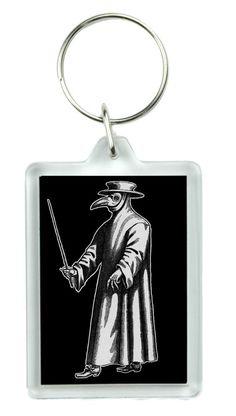 Plague Doctor Doublesided Keychain