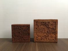Handcrafted wooden boxes - Set of 2 by VintageByJoe on Etsy