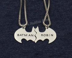 2016 Trendy Batman und Robin Lovers Halskette, die Besten Freunde BBF Geschenk Collier Maxi Halskette Steampunk Schmuck
