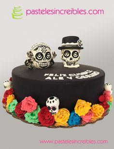 Pastel de Calaveras Mexicanas Día de Muertos Pasteles Halloween, 23 Birthday, Holiday Desserts, Cake Pops, Women's Fashion, Cakes, Food, Fondant Cakes, Festivus