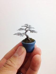Mini Wire Bonsai Tree by Ken To by KenToArt on deviantART
