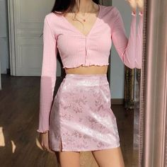 Adrette Outfits, Indie Outfits, Teen Fashion Outfits, Retro Outfits, Girly Outfits, Cute Casual Outfits, Cute Fashion, Look Fashion, Korean Fashion