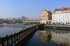 Prague - view to Charles Bridge and Castle