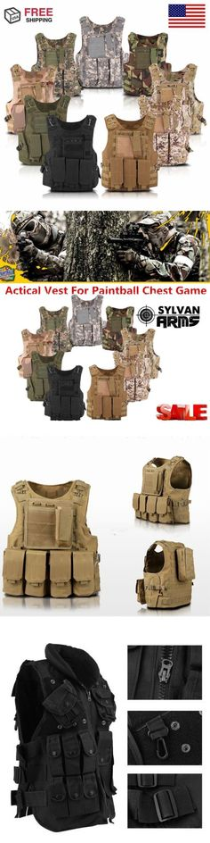 Chest Rigs and Tactical Vests 177891: Tactical Military Swat Police Airsoft Molle Combat Assault Plate Carrier Vest Ej -> BUY IT NOW ONLY: $52.79 on eBay!