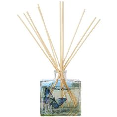 Yankee Candle Signature Reed Diffuser (€18) ❤ liked on Polyvore featuring home, home decor, home fragrance, flower diffuser, reed diffusers, green bottle, yankee candle and flower stem