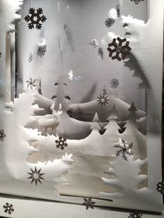 Winter store window