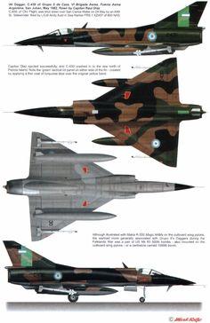 iai dagger a argentina air force Military Jets, Military Weapons, Military Aircraft, Fighter Aircraft, Fighter Jets, Camouflage, War Jet, Dassault Aviation, Falklands War