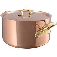 M'héritage Copper & Stainless Steel Stew pot & Lid, 6.3 qt