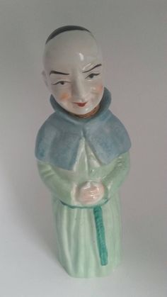 Vintage Monk Decantor Signed Japan Decanter by LynnieMcGoogins