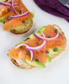 Salmon and Avocado Toast for a simple breakfast dish. It is also a food trend that will be taking off in 2015.