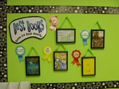 What a fun bulletin board to get kids excited about reading....Great idea...kids vote on the best books, then winners are displayed!