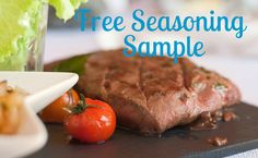 Give your food a flavor boost with a FREE seasoning sample!