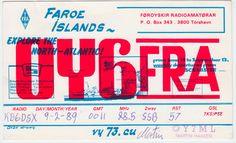 OY6FRA Faroe Islands Atlantic 1989 QSL Card