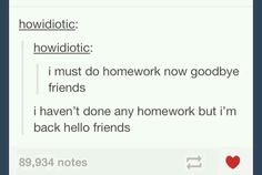 The Reality Of Doing Homework