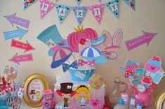 Alicia en el país de las maravillas sombrerero loco té personalizada imprimible fiesta decoración paquete - ideal para Alice en Onederland cumpleaños