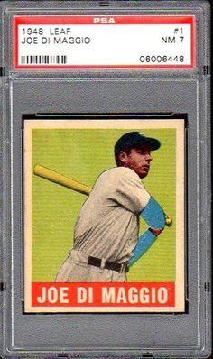 SUPERB 1948 LEAF #1 JOE DIMAGGIO NM PSA 7 YANKEES BASEBALL CARD! by Where They Ain't. $6.50. SUPERB 1948 LEAF #1 JOE DIMAGGIO NM PSA 7 YANKEES BASEBALL CARD!