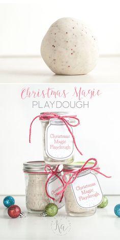 DIY playdough recipe with printable gift tag.