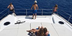 Bring the whole family aboard the Emily power catamaran for a lovely cruise around Santorini this summer