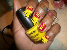 Ghetto McDonalds French Fries Nail Design - NoWayGirl