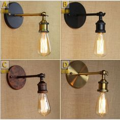 Edison Retro Vintage Wall Lights For Home Lighting Style Loft Industrial Wall Lamp LED Sconce Appliques Murales ArandelaS loft idea -- AliExpress Affiliate's Pin. Detailed information can be found on AliExpress website by clicking on the VISIT button Coffee Shop Lighting, Bar Lighting, Wall Sconce Lighting, Home Lighting, Rustic Wall Sconces, Bathroom Wall Sconces, Rustic Loft, Industrial Loft, Style Loft