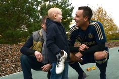 John Terry with wish child Oscar