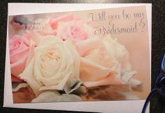 Will you be my Bridesmaid card 4x6 card  by LilyLilesWeddingco, $4.95  https://www.etsy.com/listing/178054524/will-you-be-my-bridesmaid-card-4x6-card