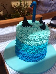 Shark Theme Smash Cake 1st Birthday Cakes And Goodies