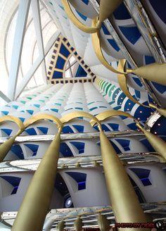 Burj Al Arab hotel interior, Dubai, United Arab Emirates