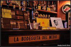 Hemingway en la bodeguita del medio by Ramon Garcia Perez, via Flickr