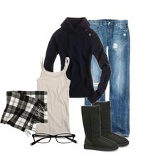 Black Hoodie & the jeans with boots would be my style