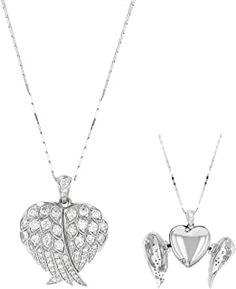 "Olivia Paris 14K Gold Angel Wings 1 Carat ctw Diamond Locket Pendant Necklace (H-I, SI2-I1), 18"" #necklacependantgold #pendantdiy #pendantjewelry #pendantnecklacediy #pendantnecklacediamond #necklacependantdiamond #pendantwhitegold #pendantnecklace #diyjewelrypendant #beadnecklace #pendant #necklace #jewelrypendants #necklacependantdiy #necklacependantsilver #necklacependantunique #pendantnecklaceunique #simplependantnecklace #diypendantnecklace #diynecklacependant #diamondpendants Diamond Pendant Necklace, Pendant Jewelry, Beaded Necklace, Gold Angel Wings, 1 Carat, White Gold, Pendants, Paris, Beaded Collar"