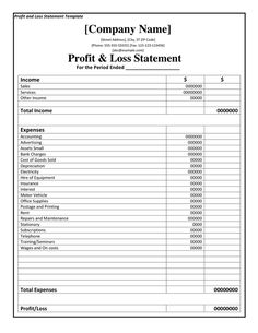 photo regarding Free Printable Profit and Loss Statement named 10 Perfect Gain and Decline Assertion visuals Earnings, decline
