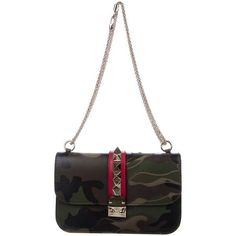 Pre-owned Valentino Camouflage Glam Rock Bag ($995) ❤ liked on Polyvore featuring bags, handbags, brown, zip purse, white camo purse, convertible purse, brown hand bags and valentino handbags #valentinopurse #valentinohandbag