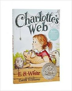 """Charlotte's Web: This beloved book by E. B. White, author of Stuart Little and The Trumpet of the Swan, is a classic of children's literature that is """"just about perfect."""" Some Pig. Humble. Radiant.These are the words in Charlotte's Web, high up in Zuckerman's barn. Charlotte's spiderweb tells of her feelings for a little pig named Wilbur, who simply wants a friend. They also express the love of a girl named Fern, who saved Wilbur's life when he was born the runt of his litter."""