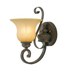 Golden Lighting 7116-1W LC Mayfair Wall Sconce | ATG Stores