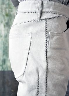 Visions of the Future: carol christian poell -- detail, pant stitching Rick Owens, Moda Rock, Fashion Details, Fashion Tips, Fashion Design, Fashion Bloggers, Style Fashion, Fashion Trends, Elisa Cavaletti