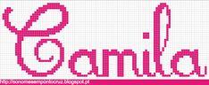 Nomes em Ponto Cruz: Camila
