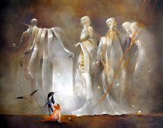 'Au delà de la grande porte (To Beyond the Great Door)', by Anne Bachelier - Oil on canvas, 2010
