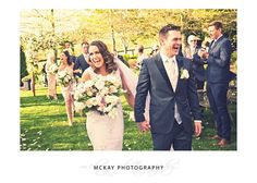 Flashback to Kayleigh & Josh's awesome wedding day at Centennial Vineyards Bowral. Love this shot of the aisle exit capturing all the fun & excitement :) #mckayphotography #bowralwedding #wedding #bowralphotographer #centennialvineyards #centennialvineyardswedding @cvrestaurant