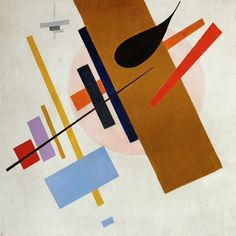 Name: Kasimir Malevich, Date: 1916 Style:'Suprematism'. Main Feature: focused on basic geometric forms, such as circles, squares, lines, and rectangles, painted in a limited range of colors. Simple shapes that we usually see in daily life. Relation: Kasimir had put simple shape to use to form a clear image that allows audiences to figure out the meaning of it.