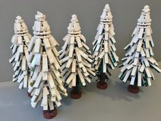 Wochenender's Pine Tree Technique #LEGO #legotechnique #legotutorial #legoguide #legoinstructions #tree #snow #winter