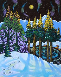 BANFF STARRY WOODS Canada House, Artwork Display, Banff, All Art, Woods, Folk, Fair Grounds, Presents, Gallery