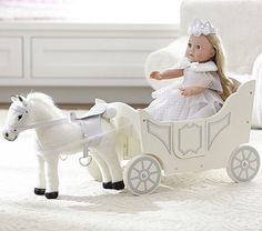Doll Carriage & Horse #pbkids