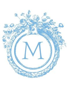 This printout includes antique-monogram that can be customized for FREE!!!
