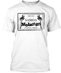 This is a Samoan Melanin Tee stamp of Arrival. Celebrating the Melanin Samoan Indigenous setting.