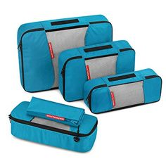 a788ab39963 Gonex Packing Cubes Travel Organizer Cubes for Luggage 4 Slim Tangerine   Amazon.ca