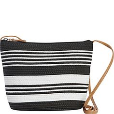 7c3196d5ceb9 Paper straw Magid crossbody with stripe detail and faux leather shoulder  strap. Paper Straws