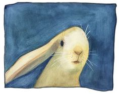 There's something about Lisa Firke's watercolor. I'm not sure if it's the rabbit's expression of the dynamic nature of the painting.