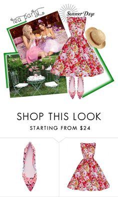 """""""Tea Party on a Summer Day"""" by elena-viola-1 ❤ liked on Polyvore featuring Giamba and Chaps"""