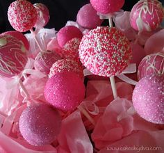 the crystal sugar cake pops are perfect